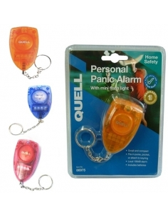 Quell 3 Pack Personal Alarms Blue/Orange/Red Combination