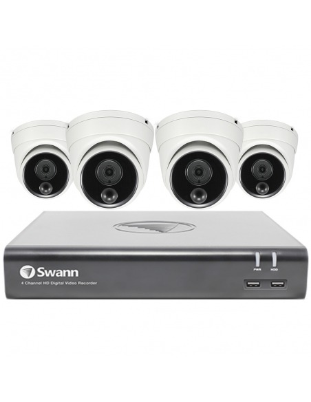 Swann 2MP SWDVK-84580V4D 1TB 4x Dome Cameras - Voice Controlled CCTV Kit (8x4)