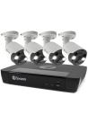 Swann 8MP SWNVK-885804FB 4K 2TB 4x NHD-885MSFB Flood Bullet Cams Audio (8x4)