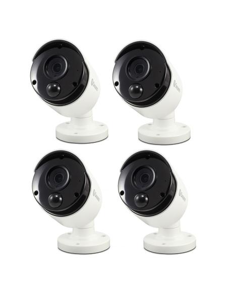 Swann 8MP SWNHD-885MSB 4K IP 4-PACK White Bullet Camera Audio NHD-885MSBx4