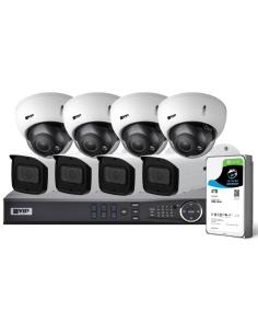 VIP Vision Pro Series 8 Camera 8.0MP IP Surveillance Kit (Motorised, 4TB)