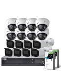 VIP Vision Pro Series 16 Camera 8.0MP IP Surveillance Kit (Motorised, 8TB)