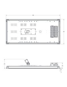 Ensa 60W Microwave Sensor Solar LED Street Light - SSL-B60MC