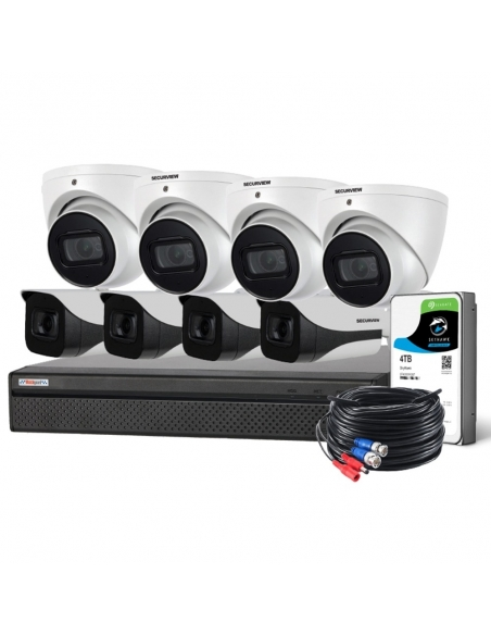 Watchguard Compact 8 Channel 8.0MP HDCVI Surveillance Kit - CVRKIT-C884F