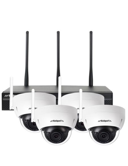 Watchguard 3MP Pro-Series WiFi 4 Channel Dome Wireless IP Surveillance Kit