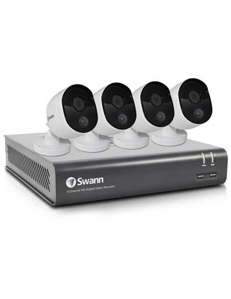 Swann 2MP SWDVK-845804V Voice Controlled CCTV Home Security 4Camera Kit (8x4)