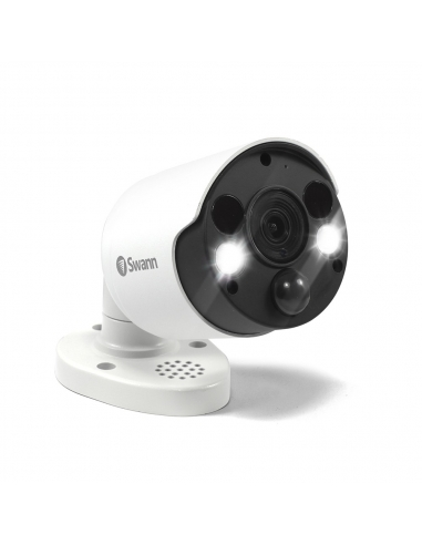 Swann 8MP SWNHD-885MSFB True Detect PIR Spotlight 4K with 2 way Audio, Siren & IR Night Vision