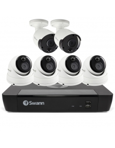 Swann 5MP 8Ch HD Security System 2TB HDD & 4x Domes 2x Bullets 5MP Cameras