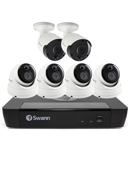 Swann 5MP 8Ch HD Security System 2TB HDD & 4x Domes 2x Bullets 5MP Cameras