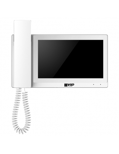 VIP Vision IP Residential Intercom Monitor with Handset White