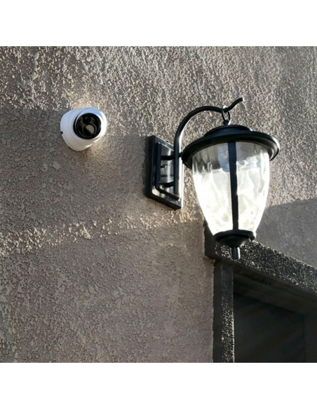 Example of Swann Dome Camera on Brick Wall House