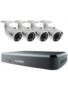 Lorex LNR110 3MP 8Ch NVR 4x3MP HD IP Cameras 2TB Full HD CCTV Security Kit