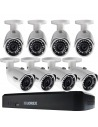 Lorex LNR110 3MP 8Ch NVR 8 x 3MP HD IP Cameras 2TB Full HD CCTV Security Kit