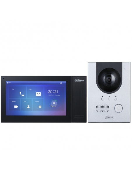 "Dahua Villa Kit with Doorstation & Single 7"" Black Screen - DHI-VTO2202F-KITB"