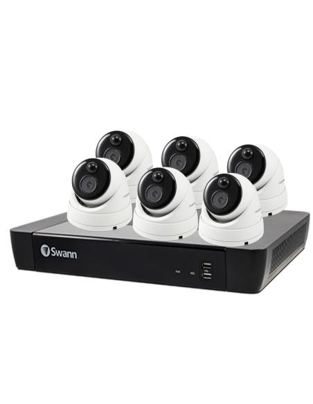 Swann 5MP SWNVK-875806D 4K NVR 6xNHD-866MSD True Detect Security Cameras w Audio