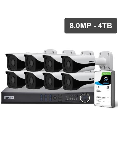 VIP Vision Pro Series 8 Camera 8.0MP IP Surveillance Kit (Fixed, 4TB)