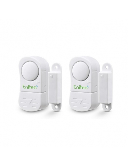 ENITEN Window Door Alarm with Chime 2Pack Battery Operated & Loud 106dB Siren