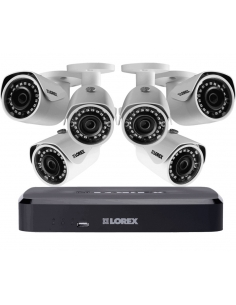 Lorex LNR110 3MP 8Ch NVR 6x3MP HD IP Cameras 2TB Full HD CCTV Security Kit
