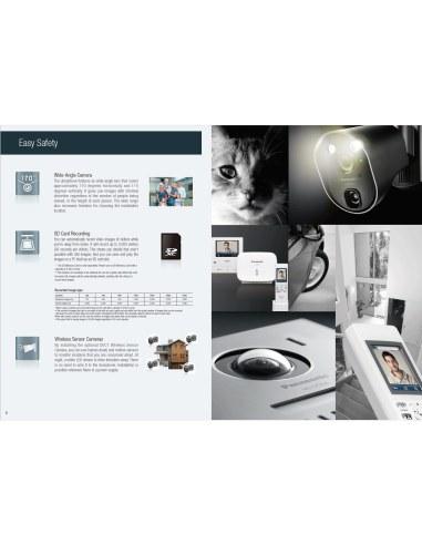 Panasonic Vl Swd501az Wireless Video Intercom System Home Visitor Futuro Wiring Diagram Swd501bx Recording Door Station