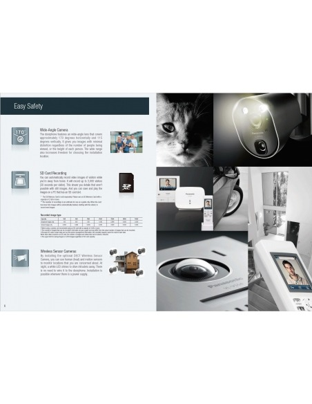Panasonic VL-SWD501BX Wireless Video Intercom System Home Visitor Recording Door Station