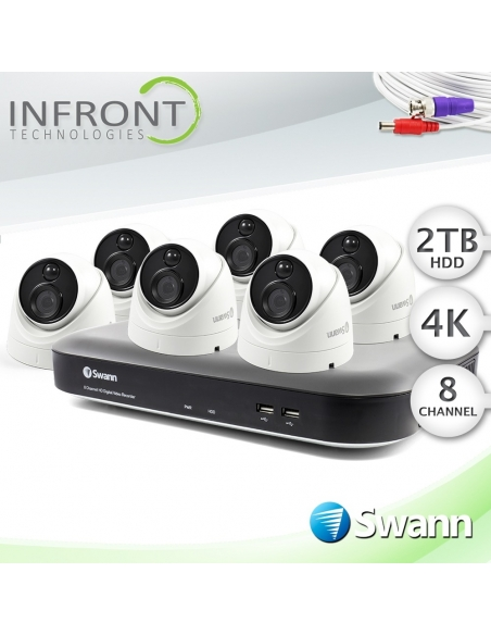 swdvk-855806d, swann 4k dome camera, 8 channel recorder 2tb hdd, swann cctv system 5580 series