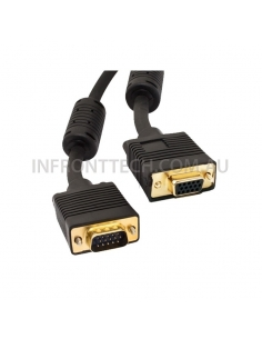 VGA Cable 2 Meter HD 15 pin, female to male SVGA