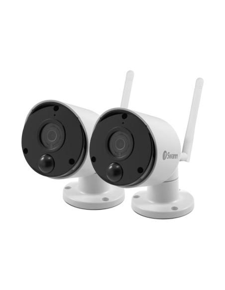 Swann pair of Heat & Motion Sensing Night Vision 1080p Wireless Wi-Fi Security Camera
