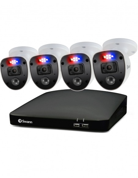 Swann Enforcer 4 Channel 1080p Full HD DVR-4680 with 1TB HDD & 4 x 1080p Enforcer Cameras Spotlights PRO-1080SL