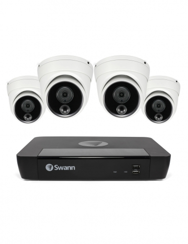 Swann SONVK-886804 8MP 8 channel 4 dome security cameras.