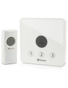 Swann SWADS-DOORBK Wireless Home Doorbell Kit - Up to 60 Metres Range & 36 Chimes