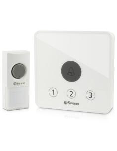 Swann SWADS-DOORBK Wireless Home Doorbell Kit - Up to 60 Metres Range & 36 Chimes