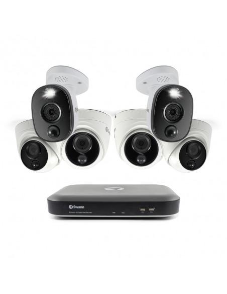Swann 6 Camera 8 Channel 4K Ultra HD DVR-5580 Security System, 2TB HDD, Heat & Motion