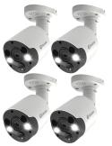 Swann NHD-887MSFB-4PK 4K Spotlight Bullet Security Camera 2-Way Audio IP 4-pack
