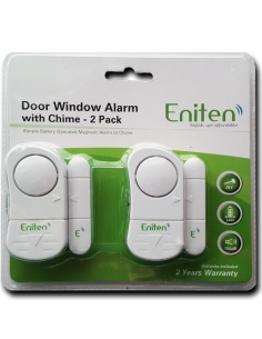 ENITEN Door Window Alarm with Chime - 2 Pack - Battery Operated and 106dB Volume