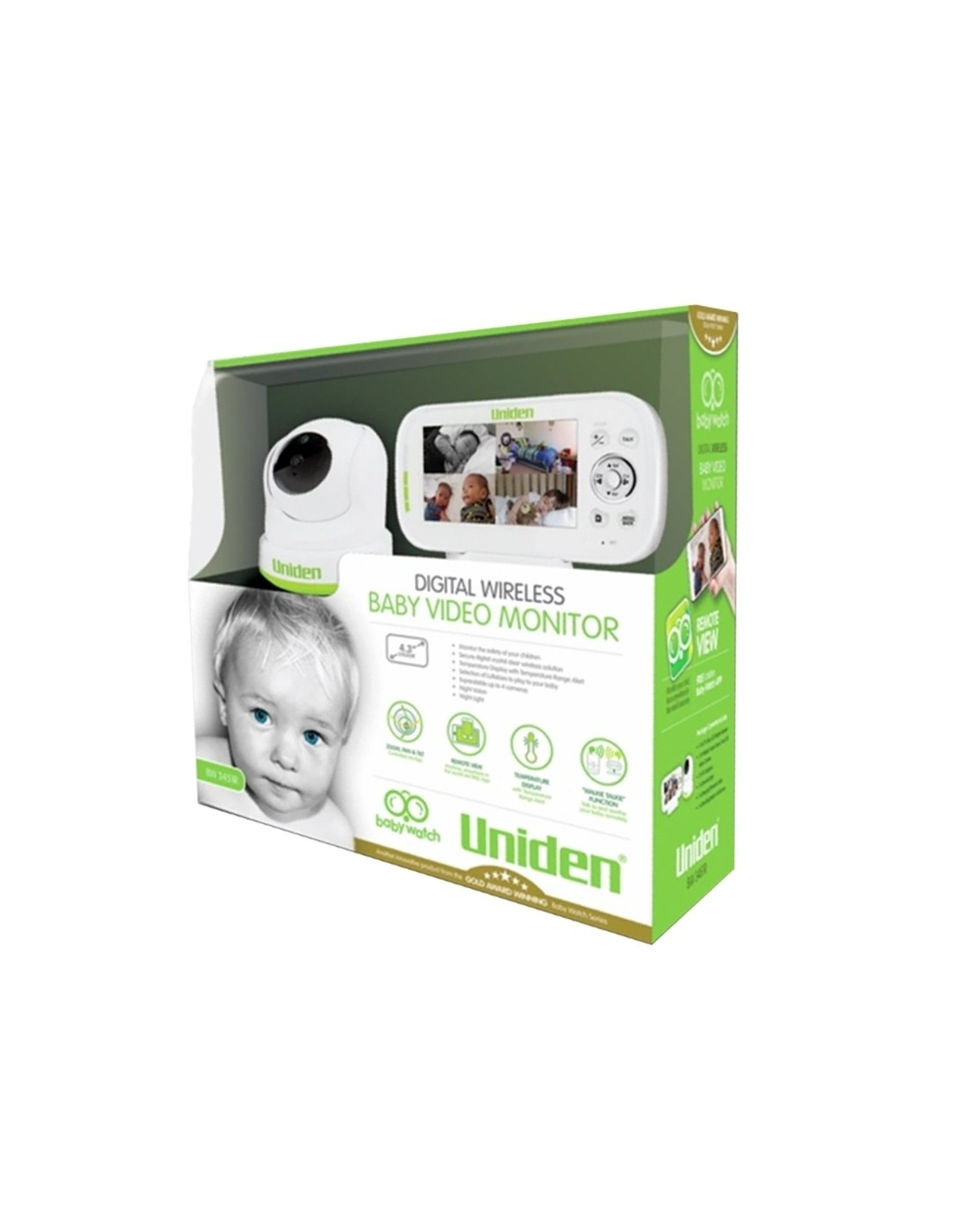 uniden bw3451r 4 3 inch digital wireless baby monitor with pan tilt zoom ptz. Black Bedroom Furniture Sets. Home Design Ideas