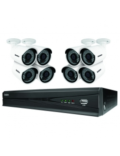 Uniden Guardian GNVR8580 8 Ch HD 1080P NVR and 8 2MP Security Cameras