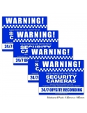 CCTV Warning Sign Stickers 4 Pack 130mm x 100mm