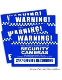 CCTV Warning Sign Stickers 4 Pack A4 Size 220 x 300mm