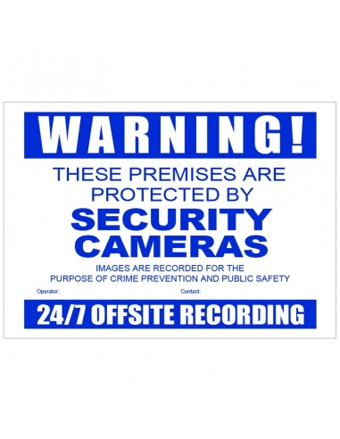 Watchguard CCTV Warning Sign Corflute...