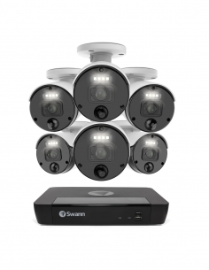 Swann 4K Upscaled Master-Series 6 Night2Day Camera 8 Ch 7680 NVR 2TB HDD Security System