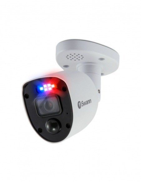 Enforcer 4K Ultra HD Add-On Security Camera 'Police-Style' Flashing Lights, Spotlight, Night2Day™ Color Night Vision & Siren