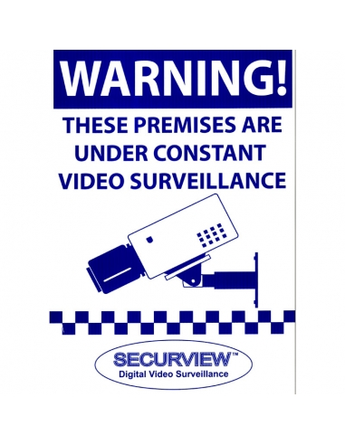 Securview CCTV Warning Sign A3 Size