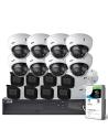 VIP Vision Pro Series 16 Camera 4.0MP IP Surveillance Kit (Motorised, 4TB)