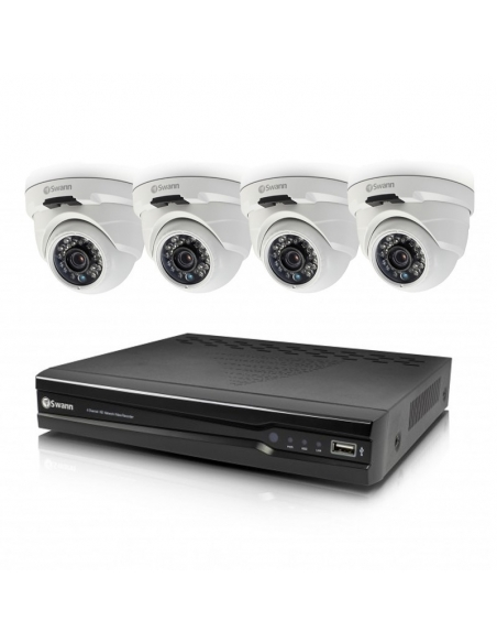 Swann SWNVK-874004D 8 Channel 4MP CCTV Security NVR & 4x NHD819 Dome Cameras