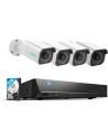Reolink 8MP 4K 8CH 2TB AI Version Camera System 4x PoE 810A Cameras