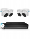 Reolink 5MP 8CH NVR 2TB HDD AI Version Surveillance 4x PoE IP 520 Dome Cameras