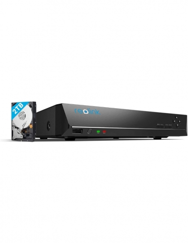 Reolink 4K PoE 8CH NVR 2TB HDD...