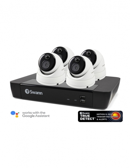 Swann 4K Upscaled Master-Series 4 Camera 8 Ch 7680 NVR 2TB HDD Security System