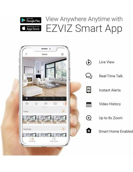 Ezviz Wireless wireless security camera mobile phone app.