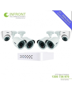 Uniden Guardian GDVR8242 D1 DVR Security Kit with 4 Bullet & 2 Dome Cameras